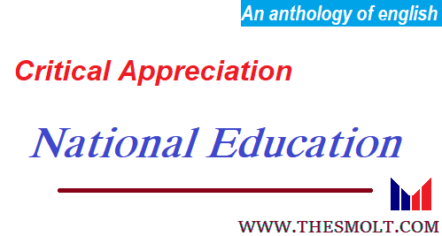 Essay on National Education