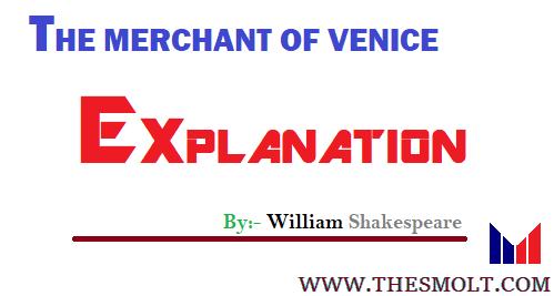 Merchant of Venice explanation