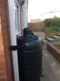 Water butts on the house