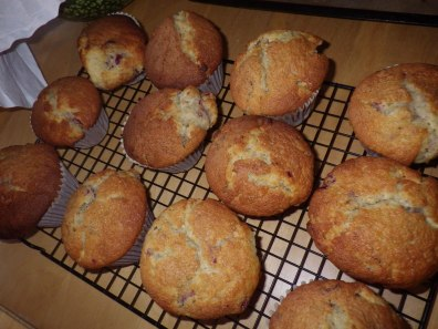 Muffins made using the whey