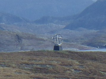 The Arctic Circle marker