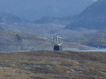 The Arctic Circle marker