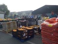 Stacks of fruit and veg