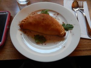Their menu includes appetizers like Sanbusa, a baked turnover filled with vegetables. (Kelsey Bundra/The Snapper)