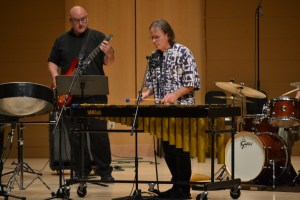Armstrong played the vibraphone. (Rachel Keslosky/The Snapper)