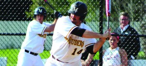 Mitch Stoltzfus leads the Marauders with a .550 batting average.