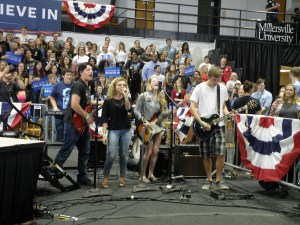 A band from Millersville University played before the speeches. (Allie Remis/Snapper)