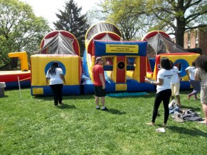 Superfest allows students to take breaks from studying to relax with inflatables and games. (Photo courtesy of Millersville.edu)