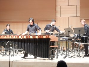 "Millersville Percussion ensemble performs ""Marimba Spiritual."" Soloist: Tim O'Leary (Colin VandenBerg/Snapper)"