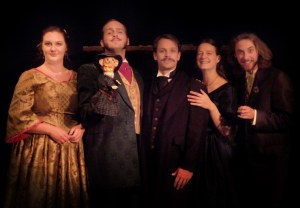 "The Black Cast pictured performed the daytime shows for ""Poe Evemore"". (Photo Courtesy of PARenFaire.com)"