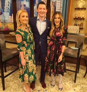One of the celebrities that Richard Curtis had an opportunity to interview was actress Sarah Jessica Parker. Photo courtesy of Richard Curtis.