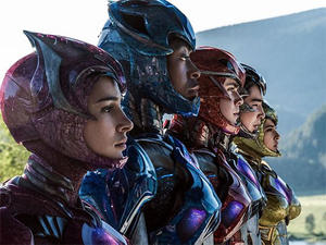 """Bryan Cranston plays Zordon, who tells the Rangers their purpose and mission, in this new """"Power Rangers"""" adaptation. (Photo courtesy of Fandango)"""