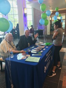 Students were able to talk to participants who have experience with organ donation. Photo courtesy of Maggi Mumma.