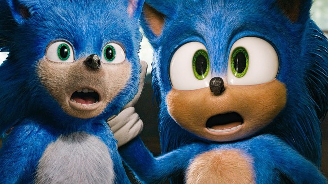 Sonic before and after