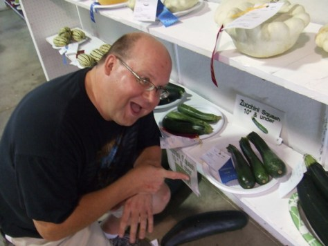 The Snarky Gardener's 1st place award winning Zucchini at the 2014 Portage County Ohio fair
