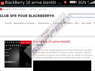 BlackBerry 10 SFR