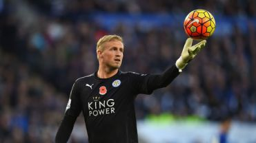during the Barclays Premier League match between Leicester City and Watford at The King Power Stadium on November 7, 2015 in Leicester, England.