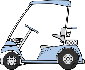 image of a golf cart