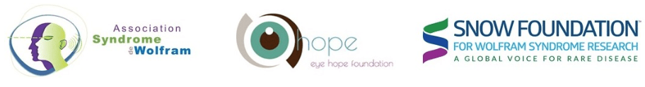 British Consortium - Association for Wolfram Syndrome + Eye Hope Foundation + The Snow Foundation logos