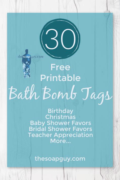 30 Adorable Free Printable Bath Bomb Tags Thesoapguy Com Blog