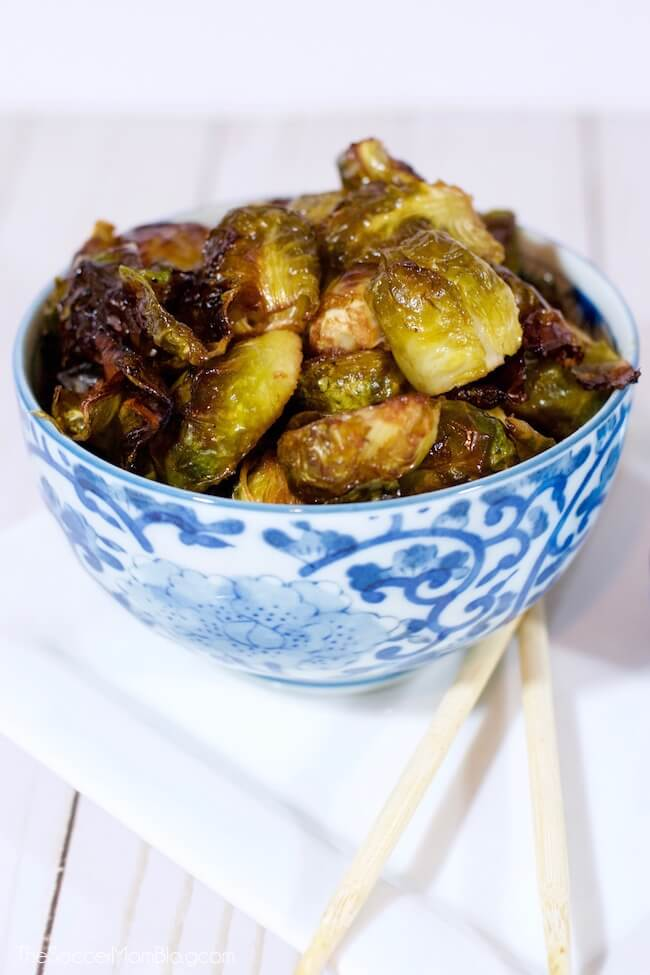 These Asian Roasted Brussels Sprouts will change your life!! One bite and you'll see why this EASY & healthy recipe is famous! Only 4 simple ingredients.