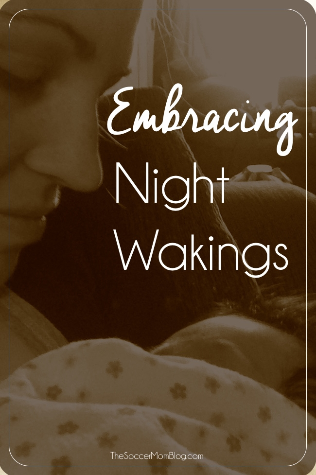 Though night wakings are exhausting, they can be a precious bonding time. A reminder to cherish these special moments with your baby.
