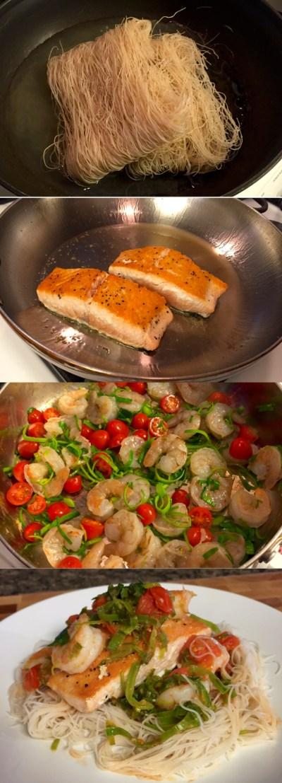 Seven Ingredient Citrus Leek Salmon & Shrimp - Fresh, Healthy, Light, and Delicious!