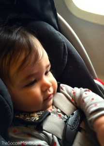 Flying with an infant isn't as difficult as you'd think, as long as you're prepared! My top five items to make airplane travel with a baby a breeze!