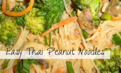 Easy Thai Peanut Noodles Recipe