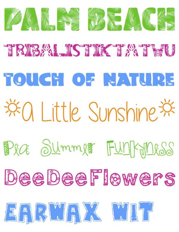 Seven FREE Fun Summer Fonts and Where to Get Them