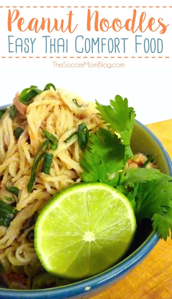 Creamy peanut noodles are the ultimate Thai comfort food! This is a simple, healthy recipe you can enjoy at home anytime.