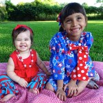 The Girls and Their Festive Fourth of July Kids Outfits