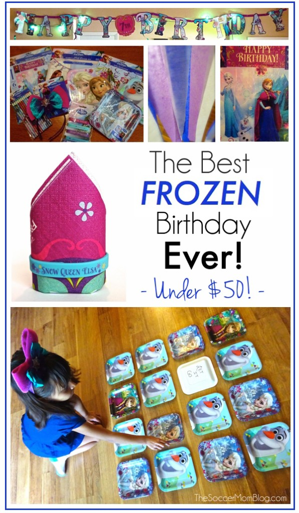The Best FROZEN Birthday Party Ever And its all under 50 The