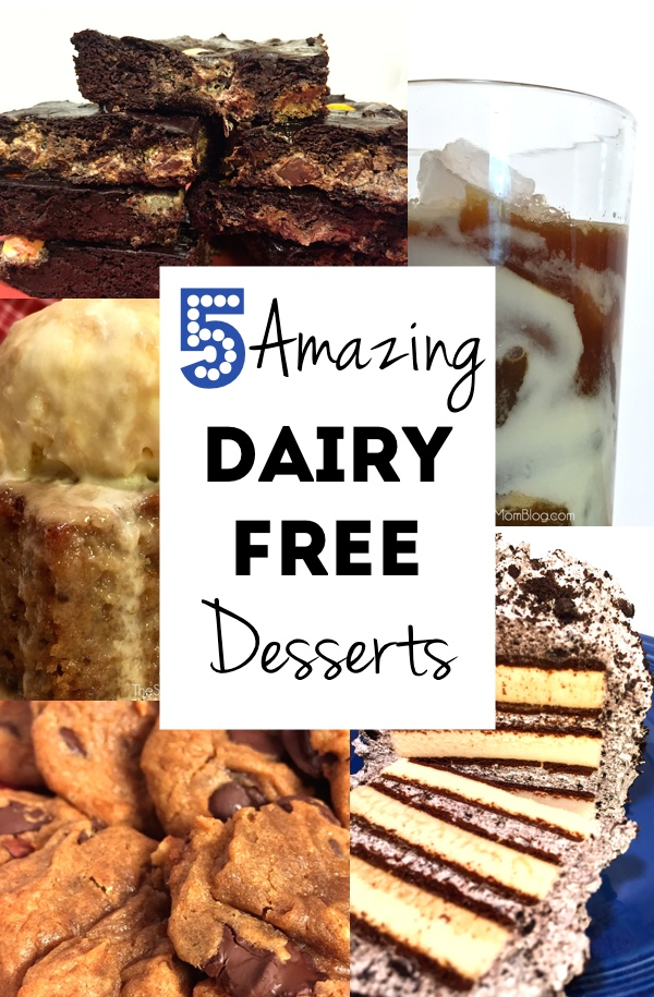 Five dairy free desserts so delicious, you won't believe they're not made with the real thing!