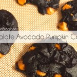 Chocolate Avocado Pumpkin Cookies with Salted Caramel Chips