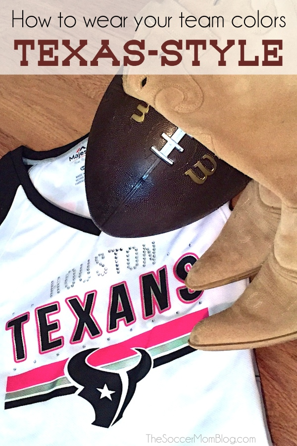 """What's your game day stye? How do you wear your NFL team colors """"off the field?"""" Here's how we do it in Texas! #MyNFLFanStyle #CleverGirls"""