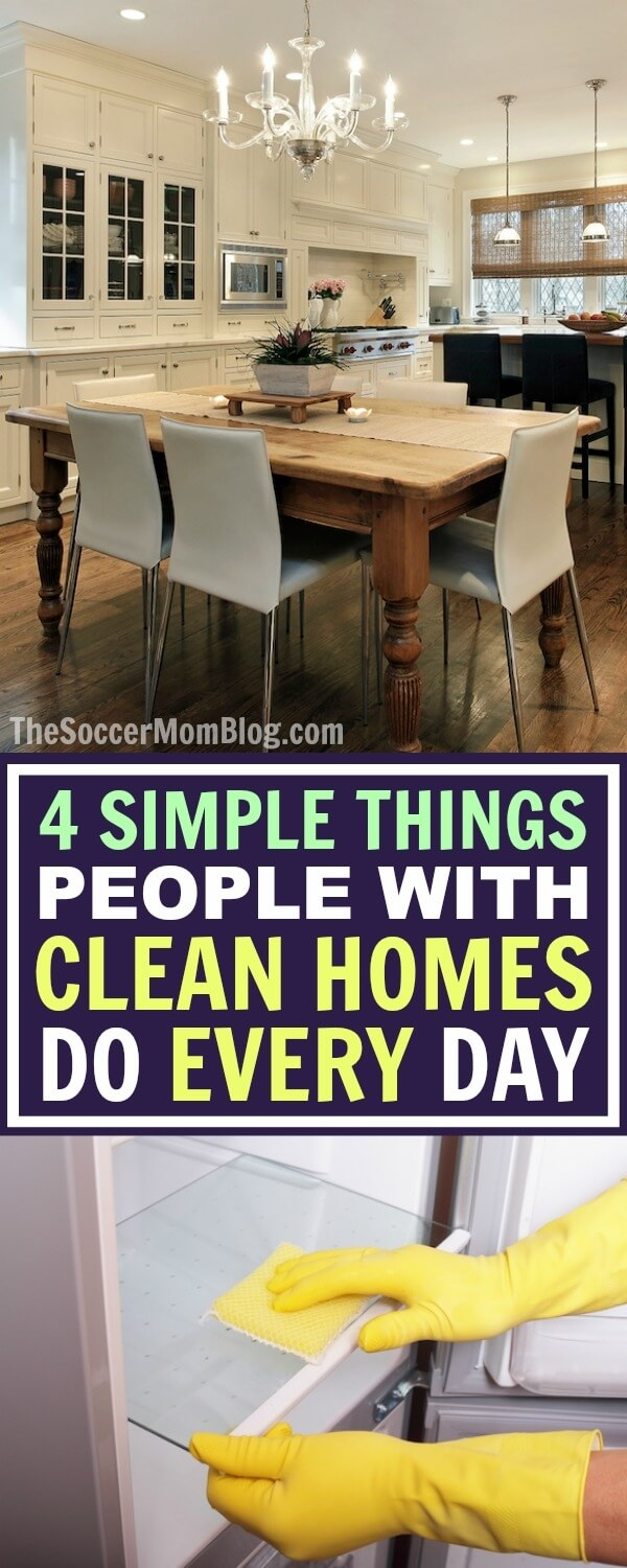 how to clean up house in one