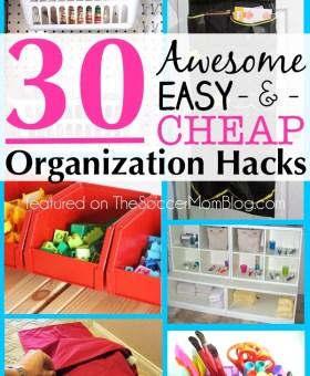 30 Awesome Organization Hacks