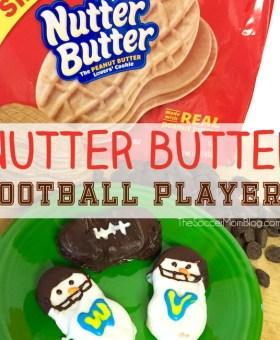 Nutter Butter Snowmen Football Player Cookies