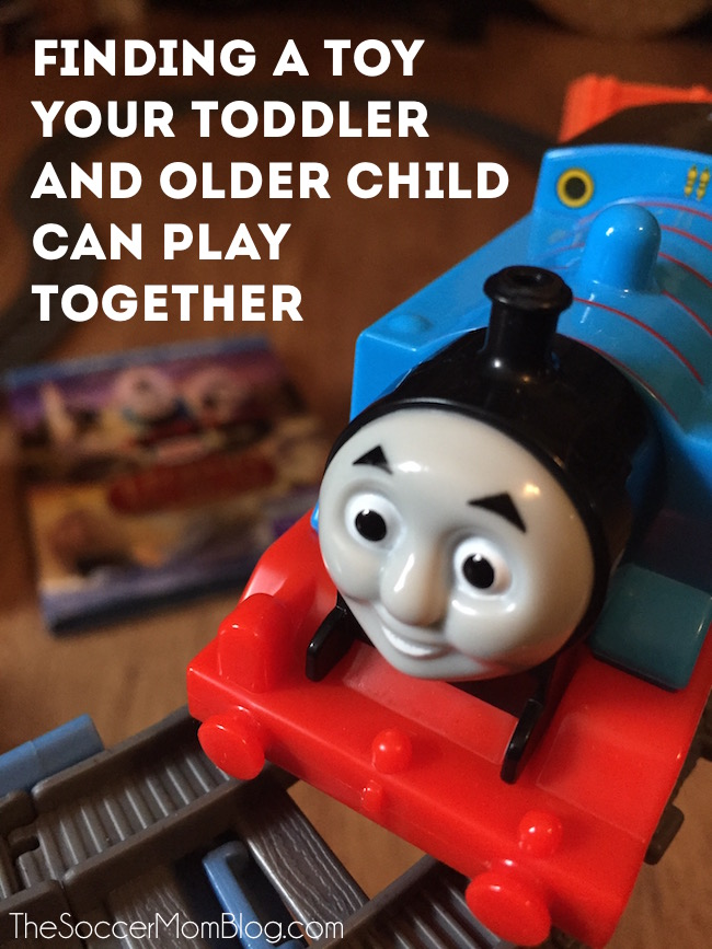 Finding toys that a toddler and older child can play together can be tricky -- see what I found that keeps both my 19 month old & 2nd grader entertained (together!) for hours!