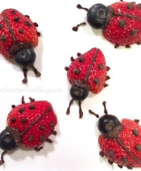 Strawberry Ladybugs & Tips to Get Kids to Eat Fruit