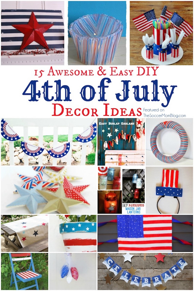 You Are Going To LOVE These Awesomely EASY 4th Of July Party Decor Ideas!  One