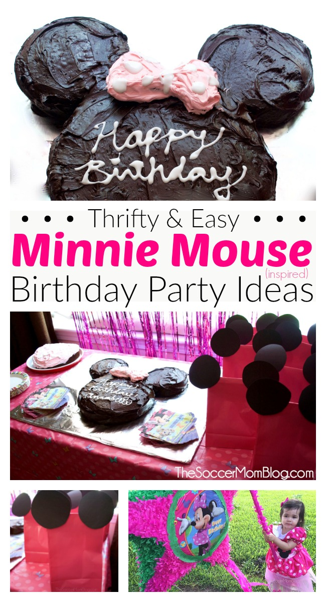 Easy Minnie Mouse Birthday Cake Thrifty Party Ideas