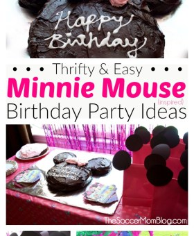Easy Minnie Mouse Birthday Cake & Thrifty Party Ideas