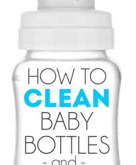 The Easiest Way to Clean Baby Bottles & Sippy Cups