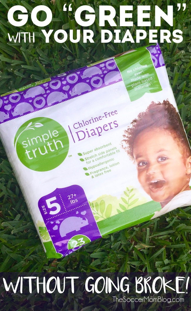 """I always thought that organic diapers were out of the budget, until I did a price comparison and saw the surprisingly """"simple truth!"""""""