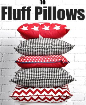 The BEST Way to Fluff Pillows