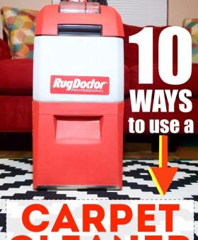 10 Ways to Use a Carpet Cleaner (Other than Carpets!)