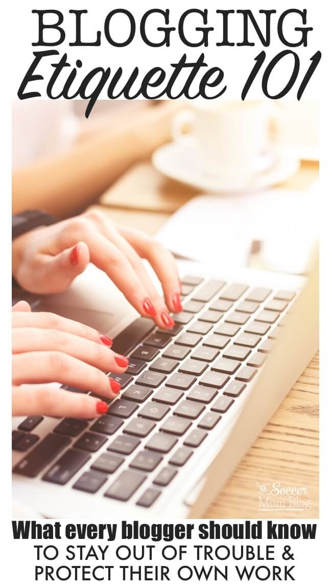 Blogging etiquette is one of the most important subjects for ALL bloggers to learn, but one that's not discussed enough! What you need to know to stay out of trouble, make valuable connections instead of burning bridges, and protect your own work.