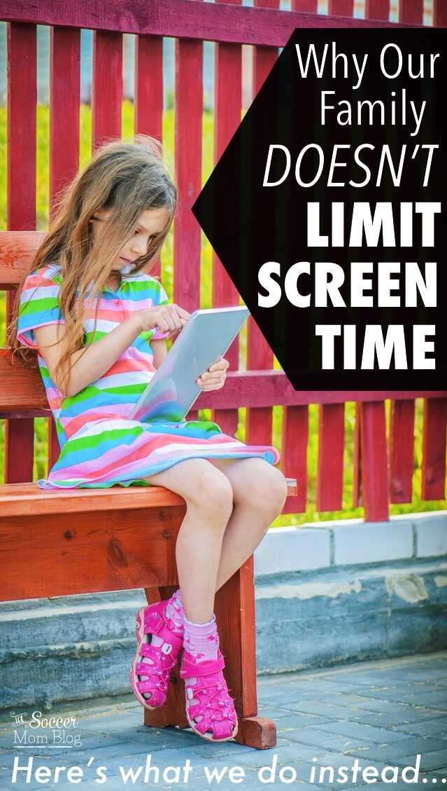 "You've probably read a lot of parenting advice about the dangers of ""screen time"" for kids. Why our family chooses NOT to limit screen time and what we do instead."